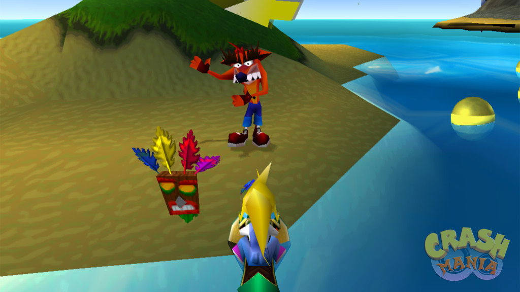 Fake Crash dancing on a small island.