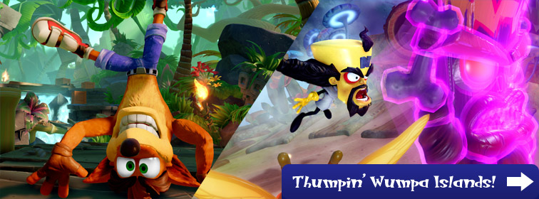 Crash in Skylanders: Thumpin' Wumpa Islands