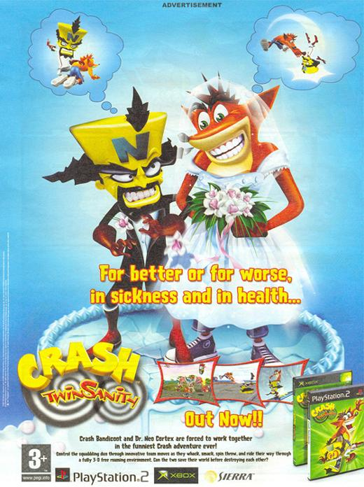 Collectibles - Scans - Print Ads   Crash Mania