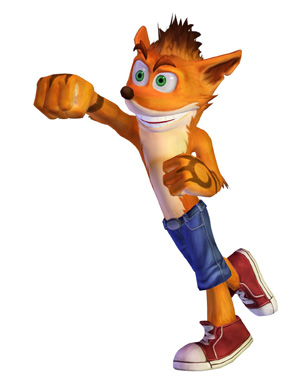 With tattoos on his arms instead of gloves, Crash throws a punch.