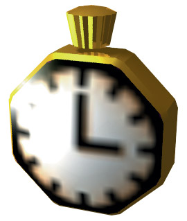 A golden stopwatch.