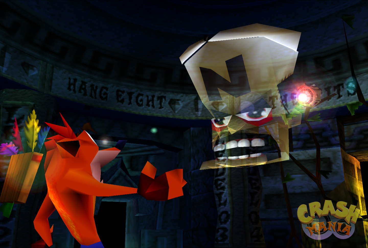 Cortex communicates with Crash from his space station through a holographic projector.