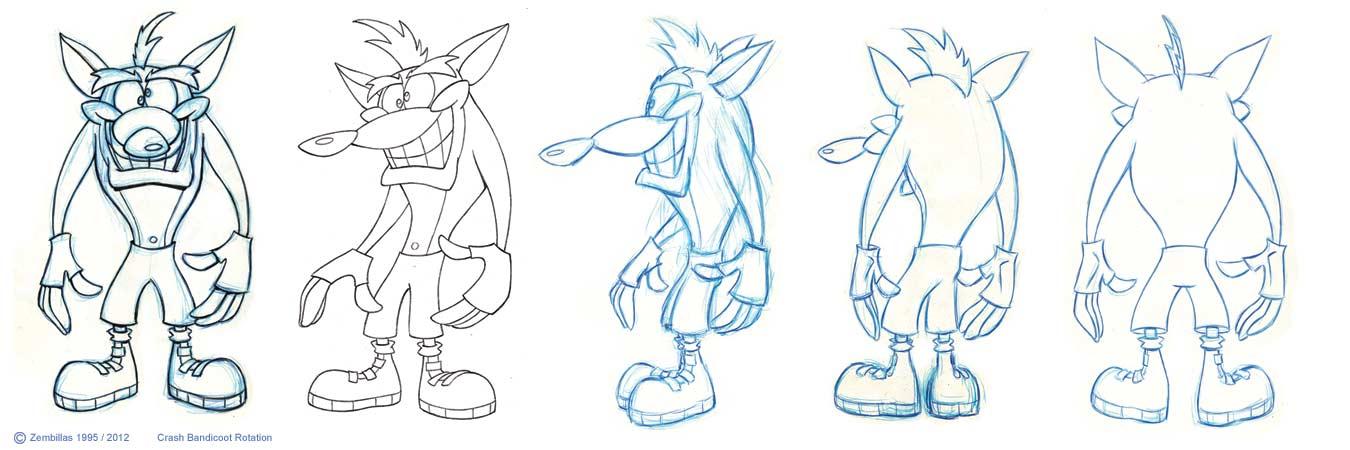 Character Design Crash Course : Crash bandicoot artwork charles zembillas mania