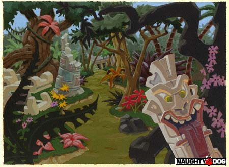 Crash Bandicoot Environments Naughty Dog Web Site