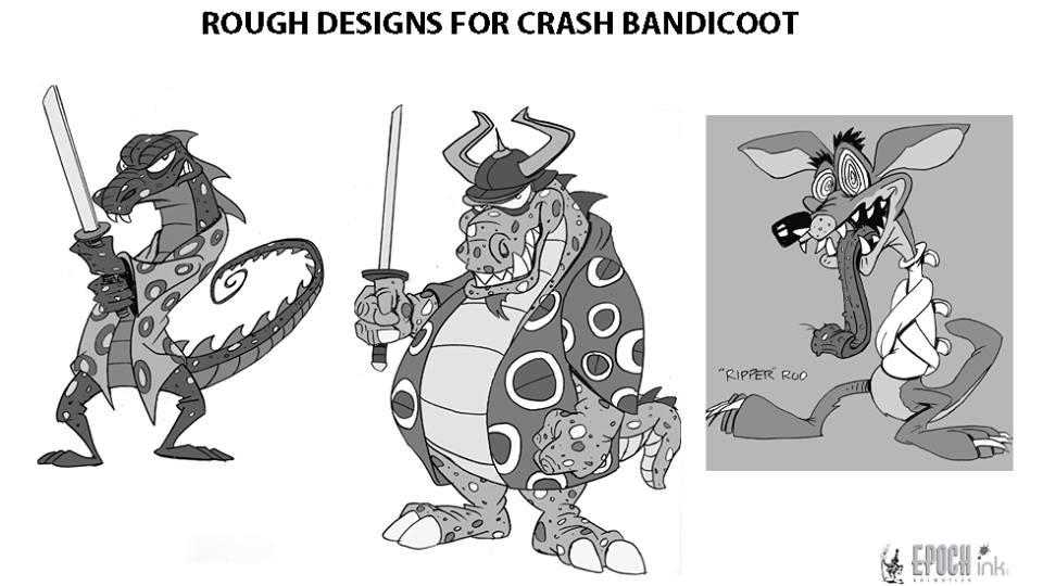 Character Design Crash Course : Crash bandicoot artwork joe pearson mania