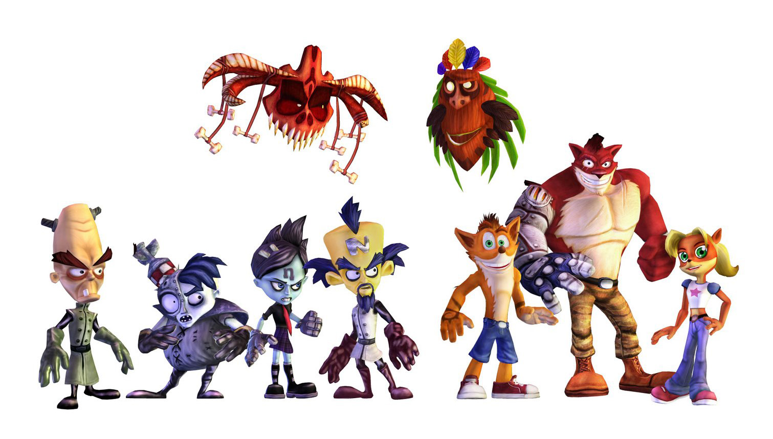 Crash Mind Over Mutant Character Renders Crash Mania