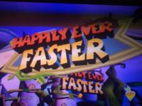 Happily Ever Faster Sign
