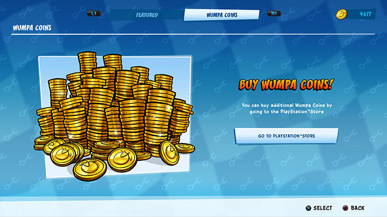 A screen encouraging the purchase of virtual money with a picture of coin stacks.