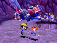 Crash, Cortex and Pile of Junk