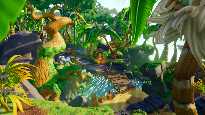 The lush jungles of the Wumpa Islands.